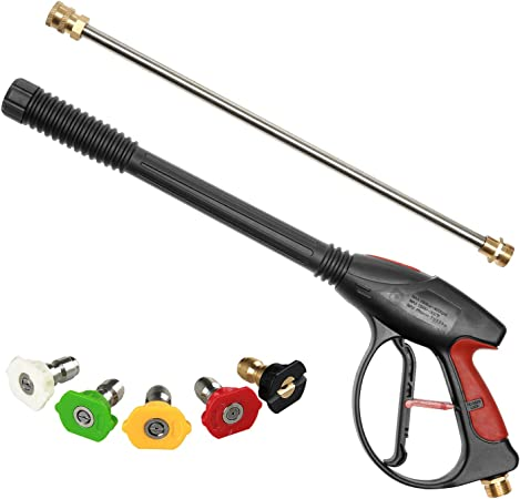 High Pressure Washer Spray Gun Lance Nozzle Trigger Wash Water Kit