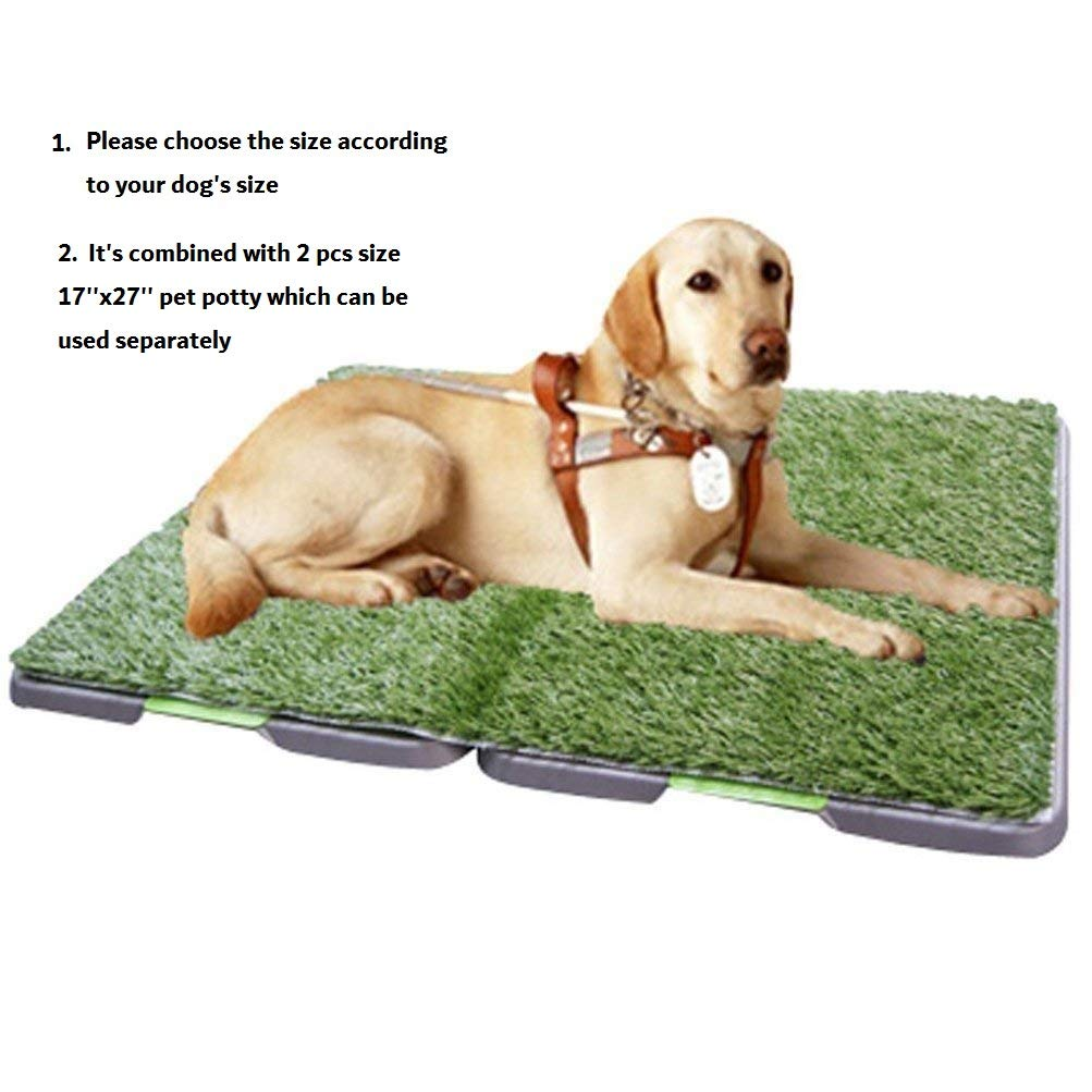 Synturfmats 3 Tiers Pet Potty Patch Training Pad for Dogs, Large Size 27''x34'' by Synturfmats