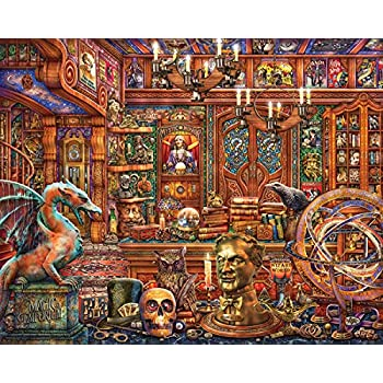 6534bc4c1e12 Springbok Puzzles - Magic Emporium - 500 Piece Jigsaw Puzzles - Large 18  inches by 23.5 inches - Made in The USA - Unique Cut Interlocking Pieces