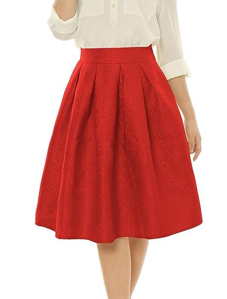 056dae8eb2 Las faldas con pliegues son súper femeninas y te ayudan a crear una silueta  de reloj de arena muy atractiva