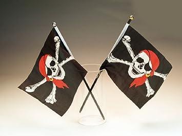 24 Piratenflaggen 21 X 14 Cm Piratenflagge Pirat Mitgebsel