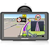 awesafe SAT NAV GPS Navigation System 7 inch 8GB 256MB Car Truck Satellite Navigator Device with Lifetime European Map Updates