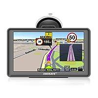 awesafe SAT NAV GPS Navigation System 7 inch 8GB 256MB Car Truck Satellite Navigator Device with Lifetime European Map Updates