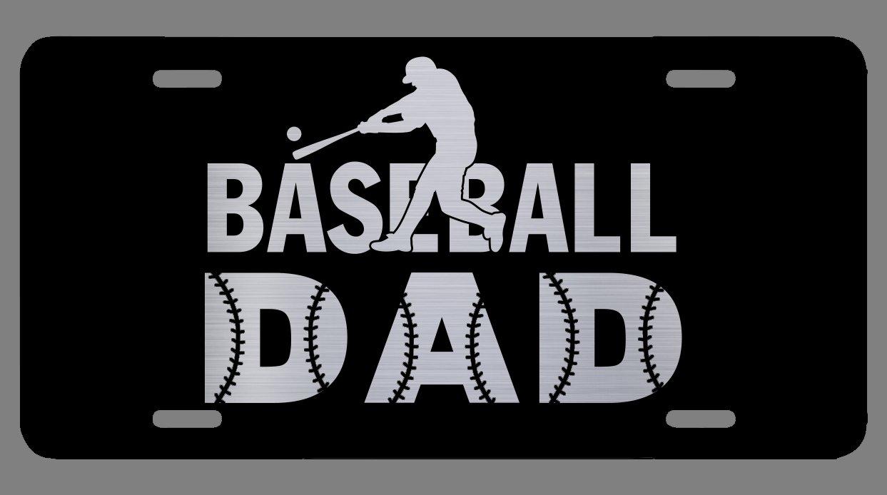 Premium Quality Vincit Veritas Baseball Dad Black Etched License Plate LP031 12-Inch By 6-Inch