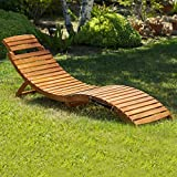 (Set of 2) Lisbon Outdoor Folding Chaise Lounge Chair