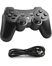 Etpark PS3 Controller Wireless Bluetooth Joystick PC controller Dualshock3 Gamepad for Playstation 3 PC Windows 7/ 8/ 9/ 10 with Charger Cable Cord