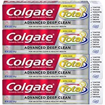 Colgate Total Advanced Deep Clean Toothpaste, 5.8 Ounce, 4 Count