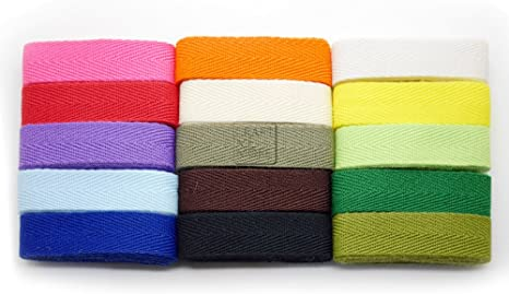 craftmemore tela de algodón de sarga cinta cintas cinchas para ropa sewing Craft 1/2 pulgadas 36 yardas de encaje Trim: Amazon.es: Juguetes y juegos