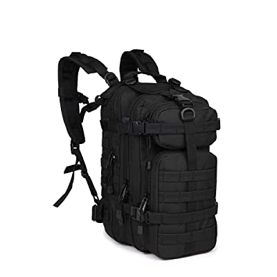 Small Assault Backpack Sports Military Rucksacks Tactical Camping Hiking Bag 600D Black