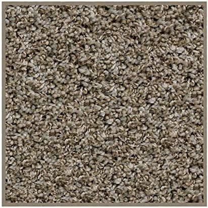 Square 12 x12 – Economical Solutions Warm Touch Carpet Area Rug Collection BROWEST, Granite 5 8 Multicolored Fibers with a Twist. Home Improvement Floor Accent for Any Room.