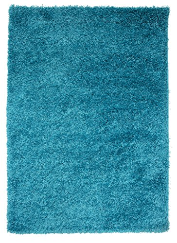 Thick Modern Small Medium Soft Anti Shed Luxury Vibrant Shaggy Area Rugs - 8 Colours & 5 Sizes Available (Teal 2' x 3'7