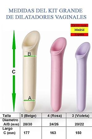 MEDINTIM Vagiwell dilatadores en 3 pack distintos (3 grandes): Amazon.es: Salud y cuidado personal