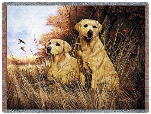 Pure Country 1934-T Yellow Lab Pet Blanket, Various Blended Colorways, 53 by 70-Inch