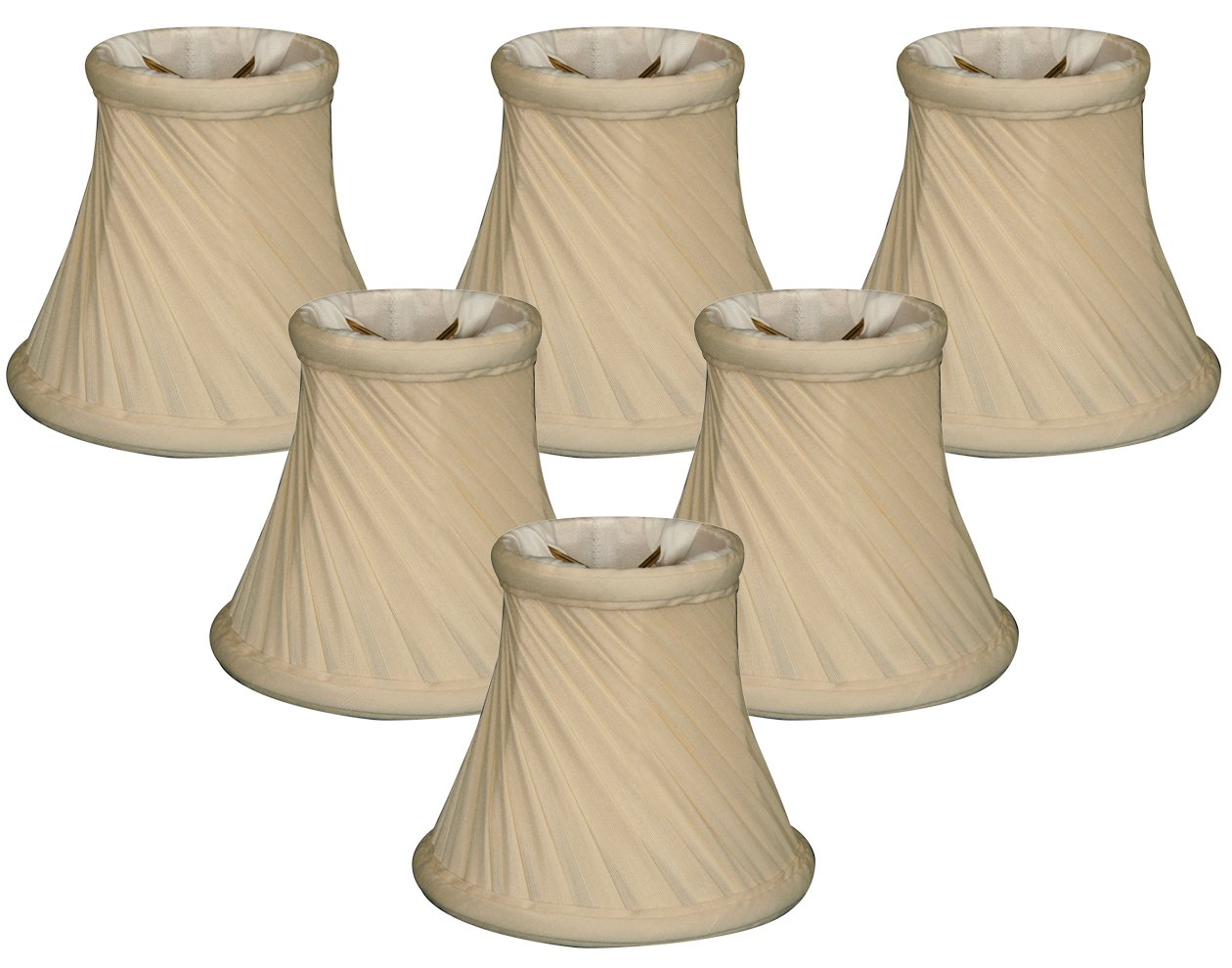 Royal Designs 5'' Twisted Bell Chandelier Lamp Shade, Eggshell, Set of 6, 3 x 5 x 4.5 (CS-716EG-6)