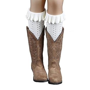Calcetines para mujer invierno ddlbiz® mujeres flangiatura scaldamuscoli Calcetines botas cobertura Puños para maletero de