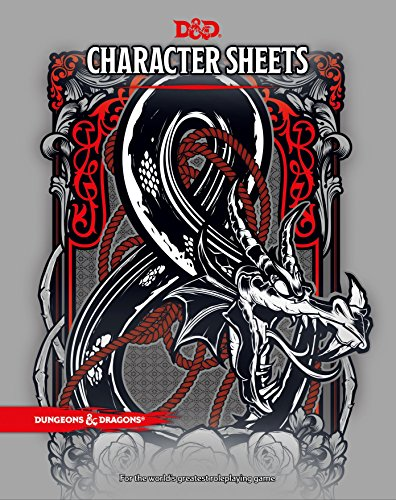 Book cover from D&D Character Sheets by Wizards RPG Team