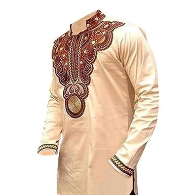 Hzjundasi Herren Afrika Stil Kleidung Tops Tribal Kleider Hemd ...