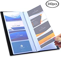 Business card holders amazon office school supplies desk jpsor business card holder65292340 pocket black journal name card book holder colourmoves