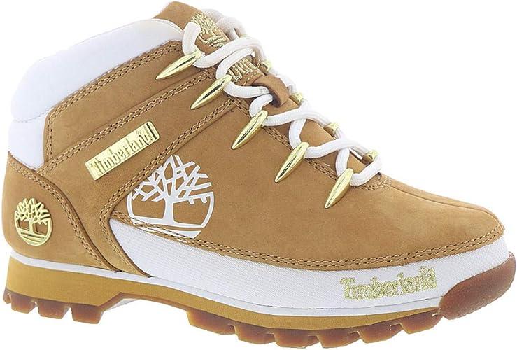 solar Mucama soborno  Timberland 16642 Women Euro Hiker Euro Sprint Wheat with White Boots Wheat  with White Size-5 M UK: Amazon.co.uk: Shoes & Bags