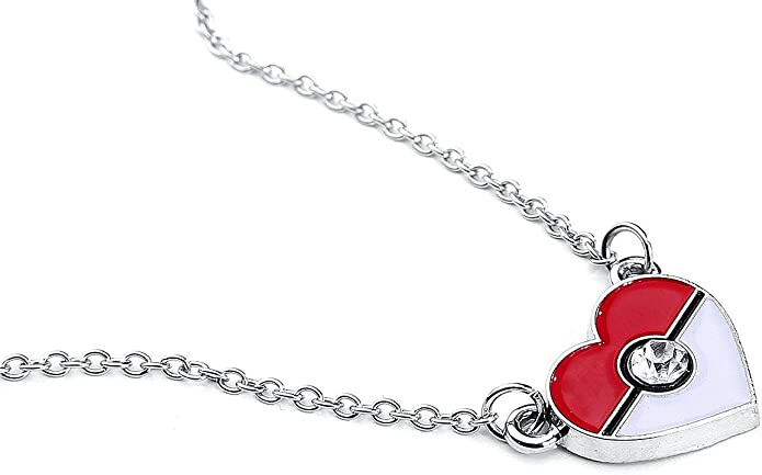 Stickers Gift USA Seller Silver Anime Pokemon Pokeball Jewelr Necklace Kids