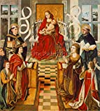 GALLEGO FERNANDO MADONNA CATHOLIC KINGS ARTIST PAINTING OIL CANVAS REPRO ART 48x40inch MUSEUM QUALITY