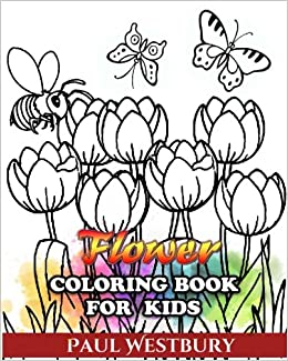 Flower Coloring Book For Kids Coloring Every Beautiful Kind Of