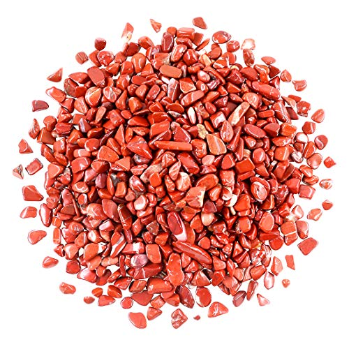 Jasper Crystal Stone - Swpeet 1 Pound Red Jasper Small Tumbled Chips Stone Gemstone Chips Crushed Pieces Irregular Shaped Stones Crystal Chips Stone Perfect for Jewelry Making Home Decoration