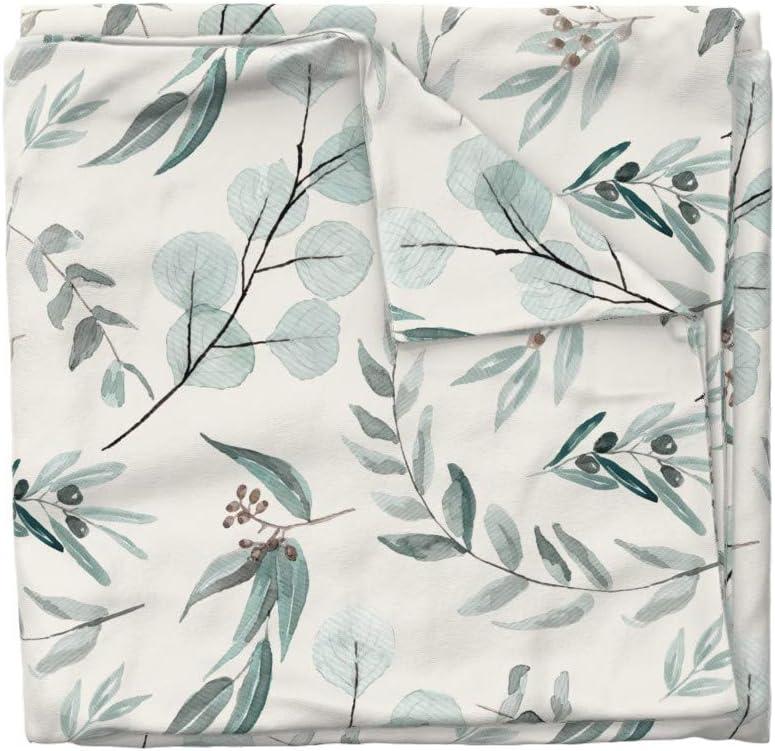 Roostery Duvet Cover Eucalyptus Jumbo Large Scale Erin Kendal Eucalyptus Eucalyptus Silver Print 100/% Cotton Sateen Duvet Cover Twin