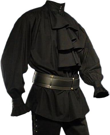 Elbenwald Mode gótica – Camisa antigua a buche – negro: Amazon.es: Ropa y accesorios