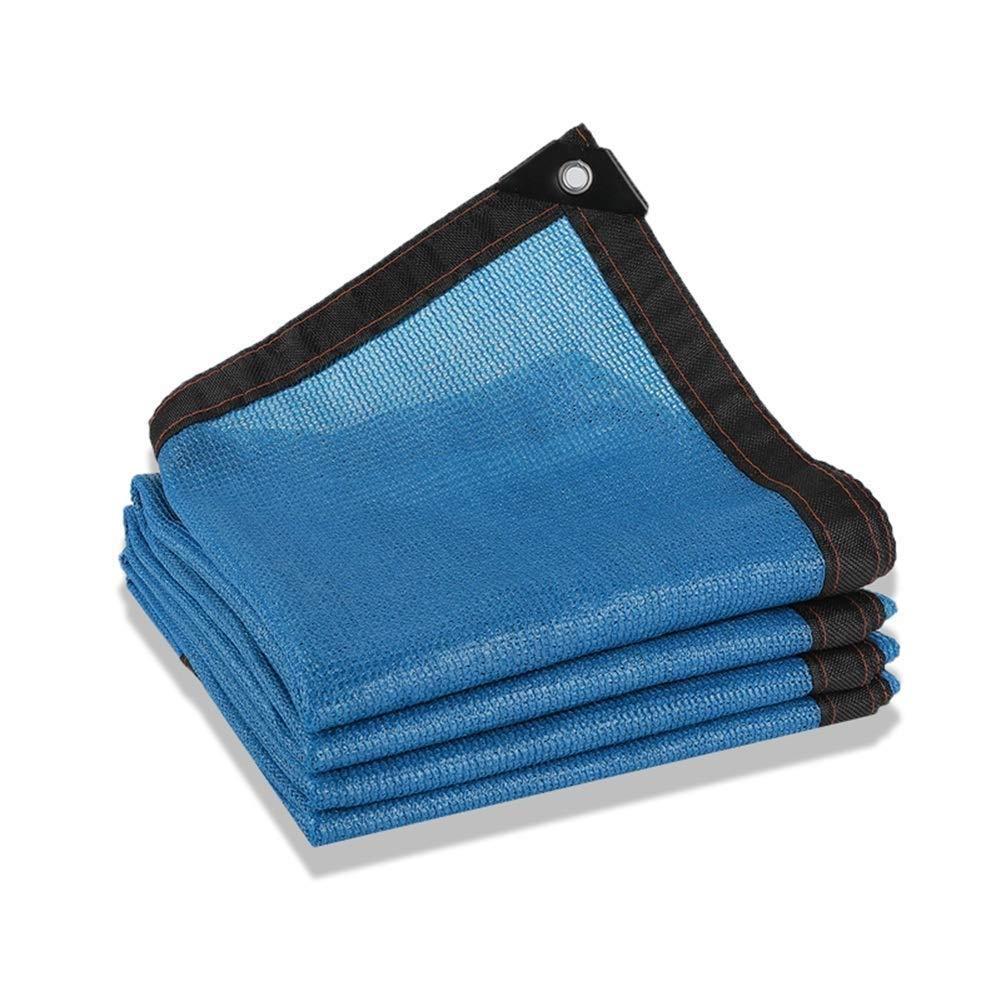 QINGJIU 日除け シェード 日よけネットシェーディング率80%引き裂き防止ガーデンバルコニー、23サイズをカスタマイズ可能(カラー:ブルー、) (Size : 6X10M) B07S4JHM3B  6X10M