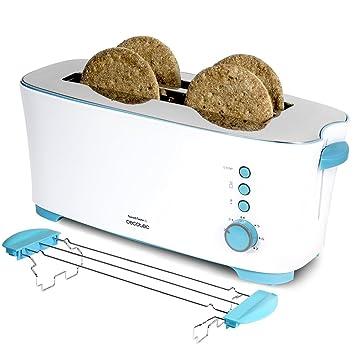 Cecotec Tostadora de Pan Toast&Taste 2L Capacidad para Cuatro, 1350 W de Potencia, 7