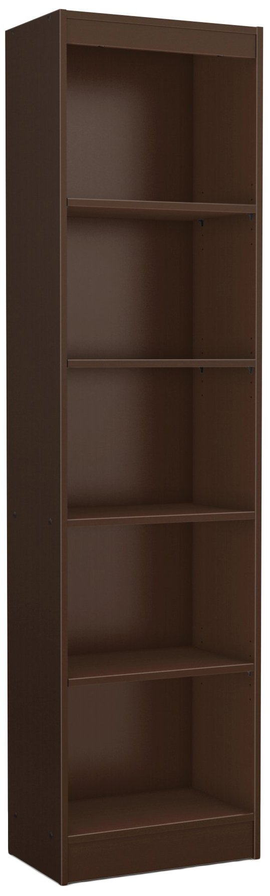 South Shore Narrow 5-Shelf Storage Bookcase, Chocolate by South Shore