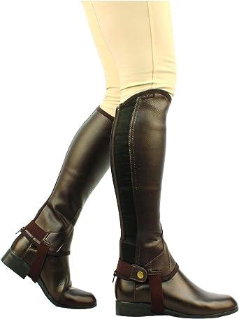 Zahones cortos modelo Equileather unisex hombre mujer Saxon