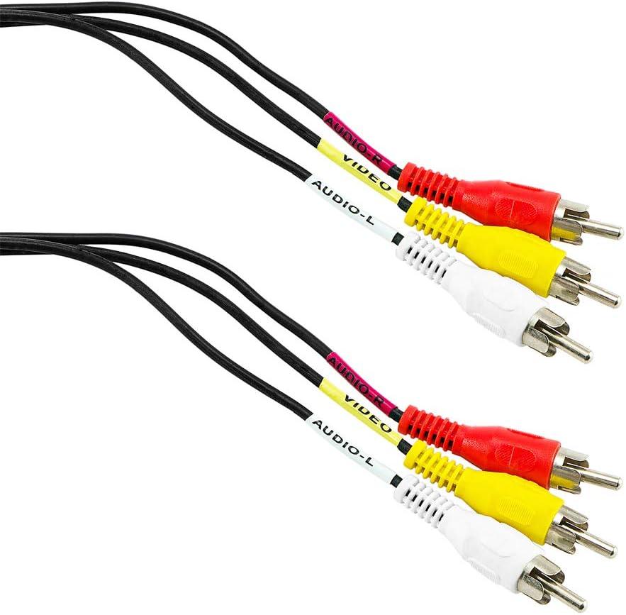 Bestplug 2 Meter Rca Audio Video Kabel 3 Cinch Stecker Amazon De Elektronik