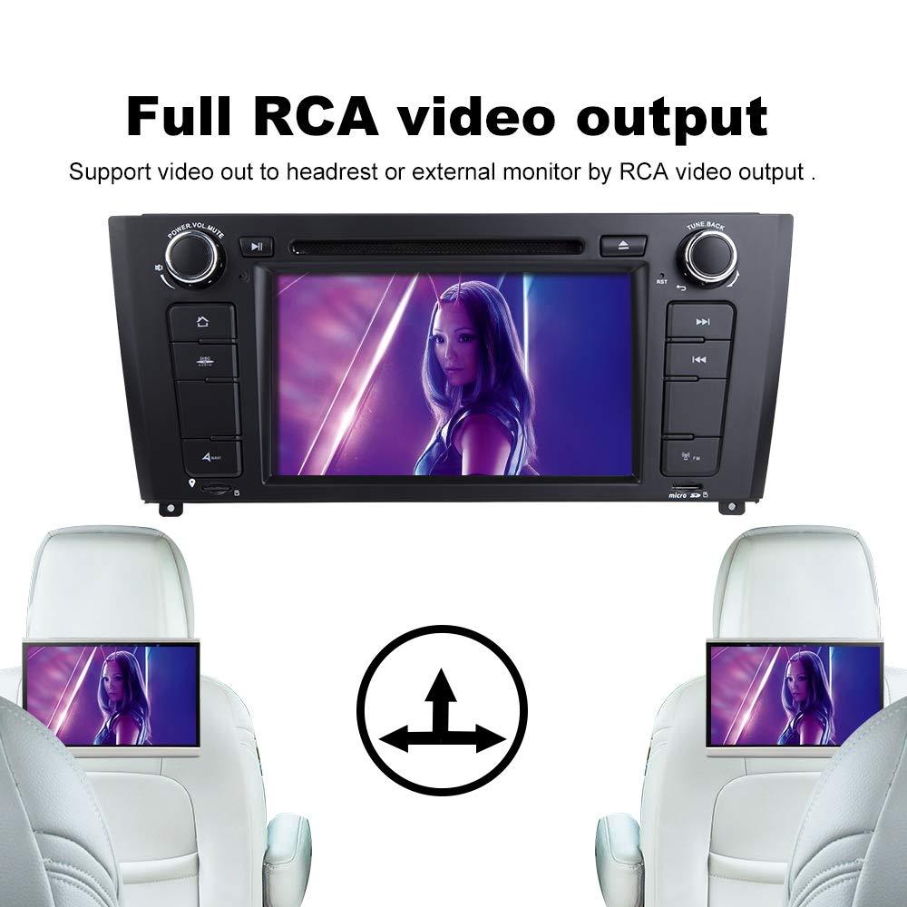 ZLTOOPAI pour BMW E81 E82 E87 E88 1 S/érie 7 Pouces Android 9.0 Autoradio St/ér/éo GPS Navigation Voiture GPS Media Player Support cam/éra de recul DVR OBD TPMS Full RCA