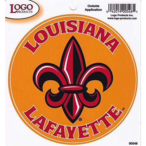 Louisiana Lafayette Ragin Cajuns Fleur De Lis Logo Decal - 3.5