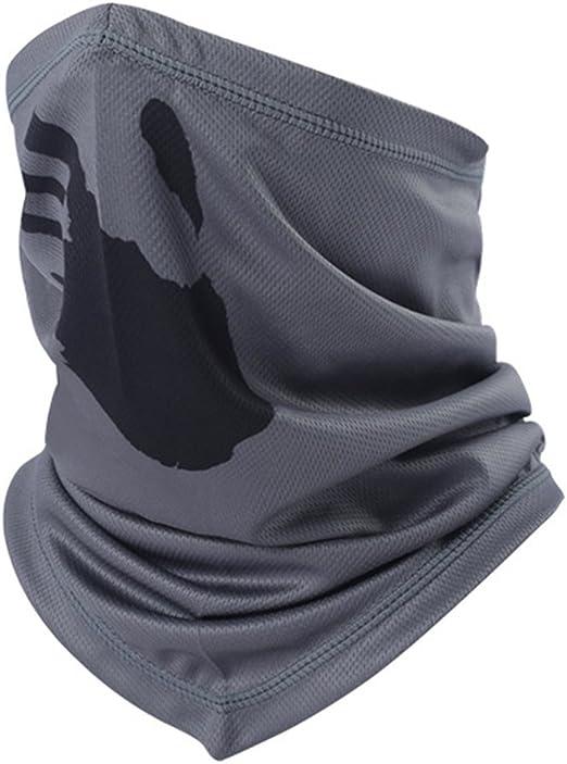 Masque Moto V/élo Cyclisme Tour de Cou Coupe-vent Bandana Protection de Visage et le Cou Demie Cagoule Respirente Echarpe Foulard S/échage Rapide Sous Casque pour Cross Airsoft Cosplay Tactique