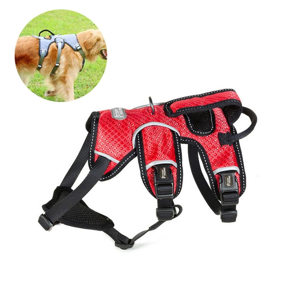 Red XL(Chest 26.8-41\ Red XL(Chest 26.8-41\ Aolvo Dog Harness, No-Pull Adjustable Breathable Soft Outdoor Pet Vest 3M Reflective Oxford Material for Small Medium Large Dogs with All Kinds of Size
