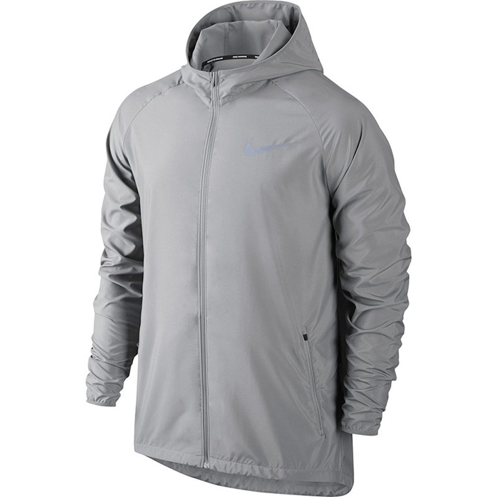37f491097e Inclement weather has nothing on your run. The lightweight, water-resistant  Men\'s Nike Essential Hooded Running Jacket keeps you covered with a ...