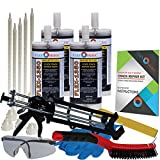 Concrete Floor Crack Repair Kit - Ultra Low Viscosity Polyurethane - FLEXKIT-1350-40