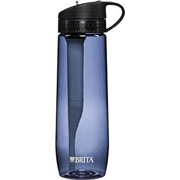 brita hard sided water filter bottle grey 237 ounces by brita