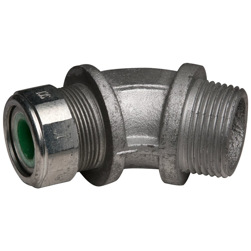 0.45-0.56 Hubbell-Raco 3747-0 Hubbell-Raco Cord Grip Connector 45 1-Inch Pack of 10 Green,