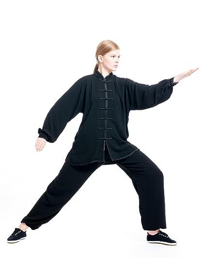 2ff661516ab4 Amazon.com   ICNBUYS Women s Tai Chi Uniform Cotton Silk   Sports ...