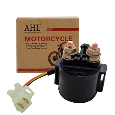 AHL Starter Solenoid Relay for Yamaha Grizzly 600 YFM600 595cc Engine 1998 1999 2000 2001: Automotive