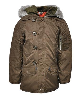 7b6077a840a3 Snorkel Boys Faux Furry Trimm Hooded Parka Winter Coat Padded Warm ...