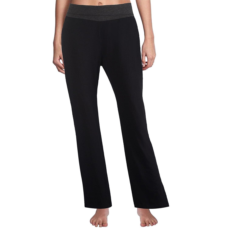9b16ea748aa15 Amazon.com : Yunoga Women's Bootcut Yoga Fitness Running Workout Pants -  High Waist Foldover Tummy Control 4 Way Stretch Bootleg Pants with  Drawstrings ...