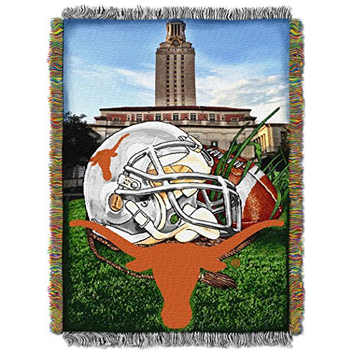 The Northwest Company Officially Licensed NCAA Texas Longhorns Home Field Advantage Woven Tapestry Throw Blanket, 48
