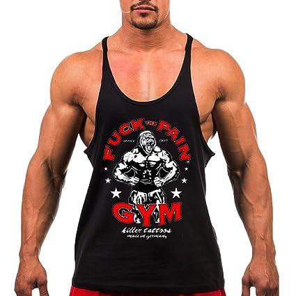 5d15de091e2682 TECOFFER Stringer Singlet Muscle Bodybuilding Men s Tank Top Gym Fitness  Vests Sleeveless Size M-XXL