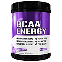 Evlution Nutrition BCAA Energy - High Performance, Energizing Amino Acid Supplement for Muscle Building, Recovery, and Endurance (Furious Grape, 65 Servings)