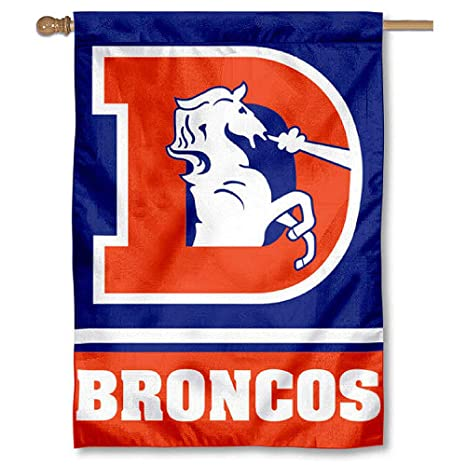 Image Unavailable. Image not available for. Color  WinCraft Denver Broncos  Throwback Vintage Two Sided House Flag 5a76bd753